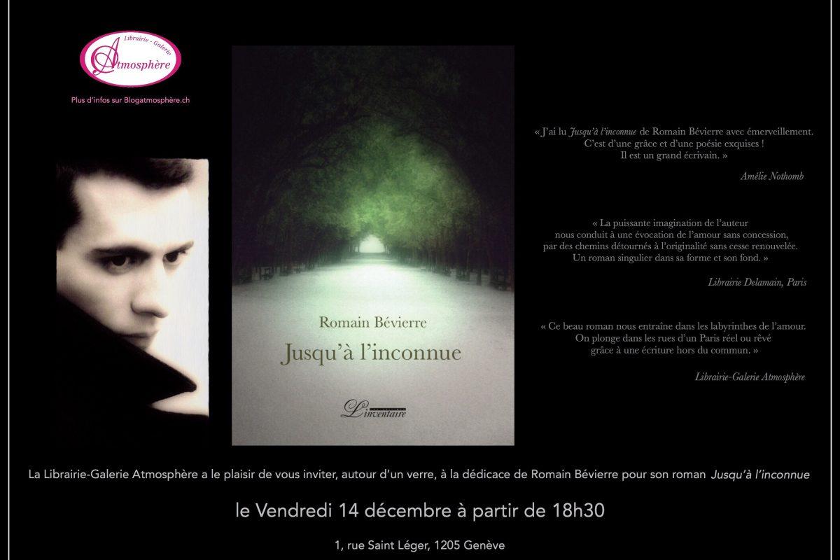 Dédicace de Romain Bévierre le vendredi 14 décembre dès 18h30