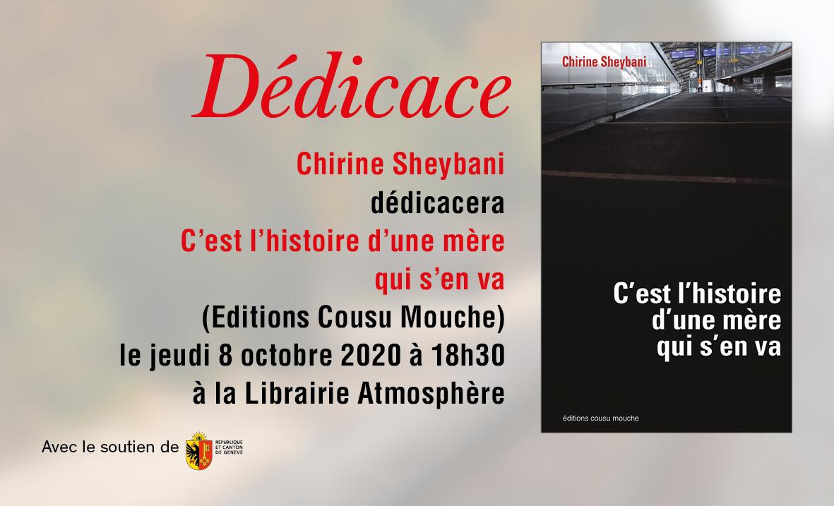 DEDICACE DE CHIRINE SHEYBANI LE JEUDI 8 OCTOBRE A 18H30