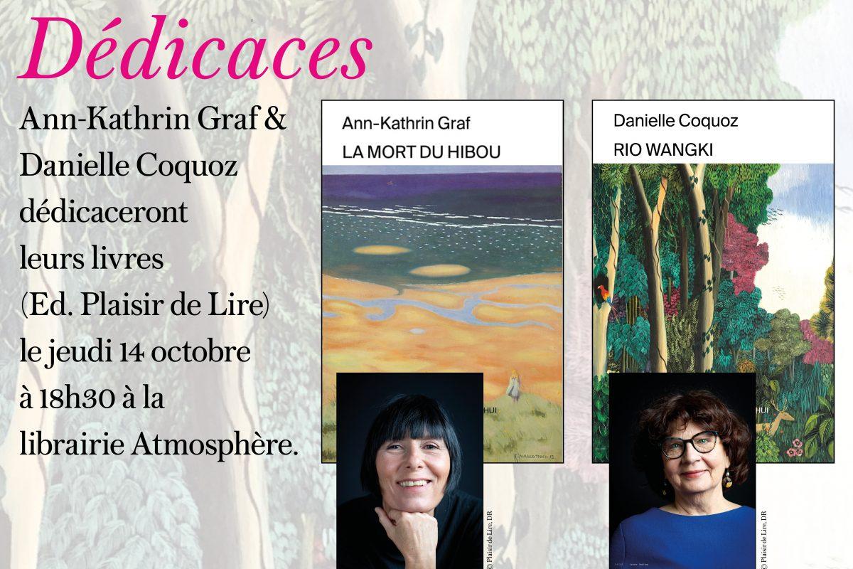 Rencontre et dédicace avec Ann-Kathrin Graf et Danielle Coquoz le jeudi 14 octobre 2021 à 18h30